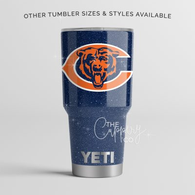 Chicago Bears Glitter YETI
