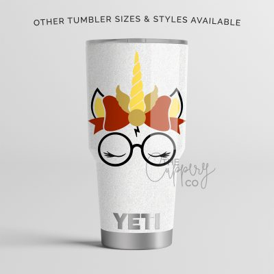 Harry Potter Unicorn Stainless Steel Glitter Tumbler - YETI or Ozark