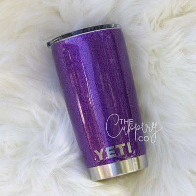 Purple Stainless Steel Glitter Tumbler - YETI or Ozark