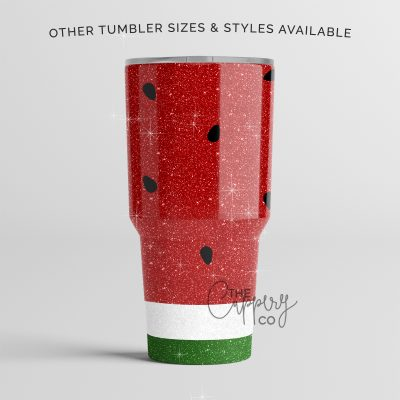 Watermelon Glitter Stainless Steel Tumbler Ozark or YETI