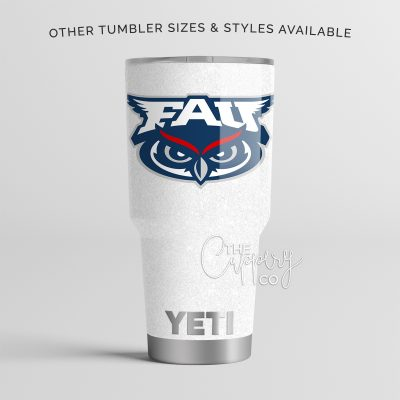 FAU Florida Atlantic University Glitter YETI