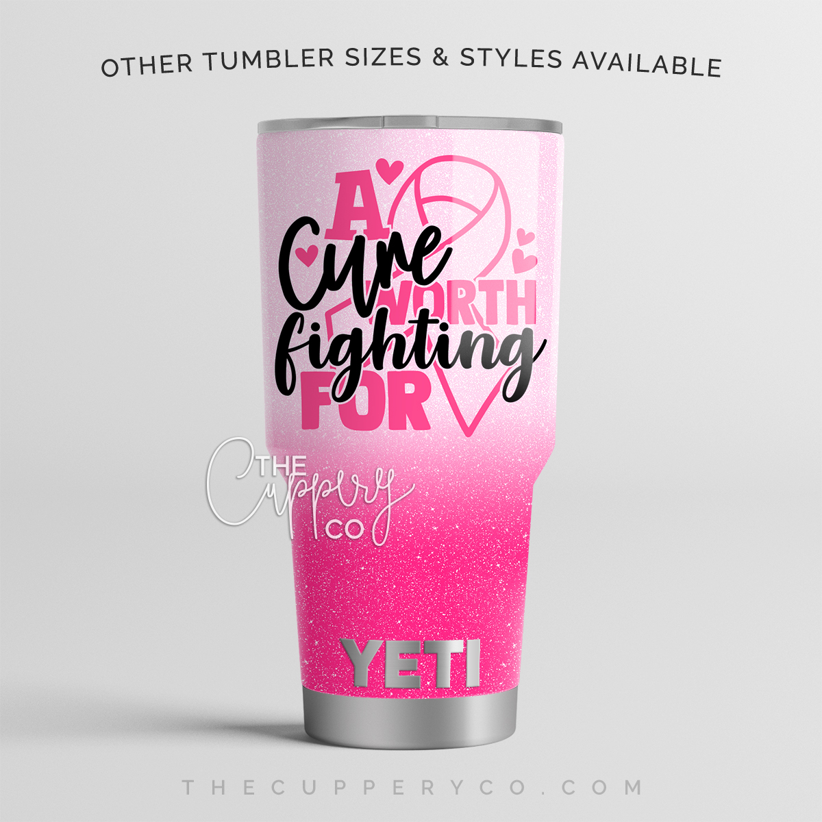 A Cure Worth Fighting For Breast Cancer Awareness Stainless